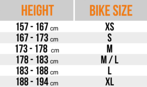 View all bike sizes